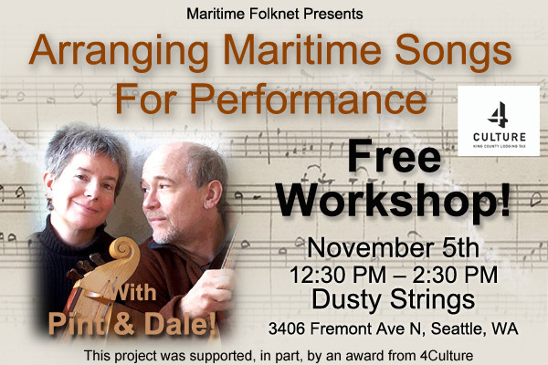 Arranging Maritime Music - Free Workshop