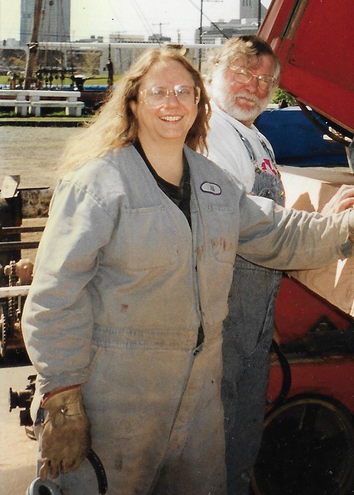 Alice Winship aboard the Wawona