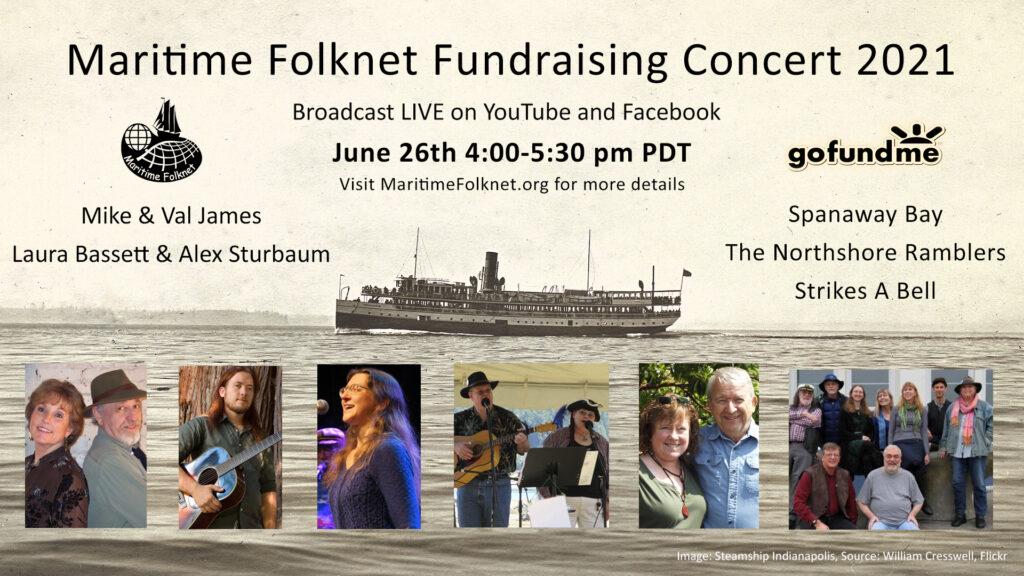 Maritime Folknet, Fundraising concert 2021